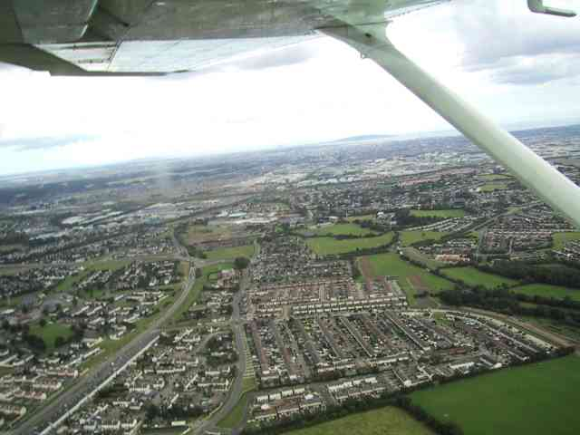 Flying round the edge of Dublin at 1000ft
