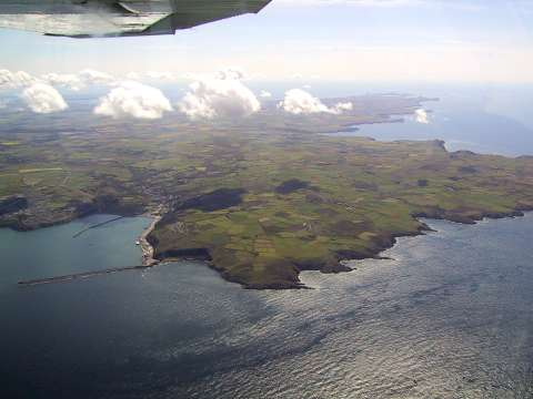 Fishguard harbour under the wing of Echo-Alpha