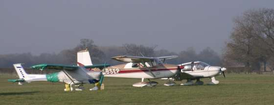 G-BSEP parked at Headcorn