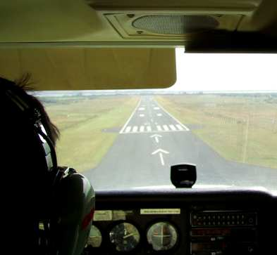 Me, just about to touchdown back at Waterford airport