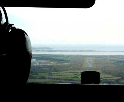 Andy's final approach at Waterford