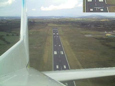 Taking off from Waterford airport. Can you spot Echo-Tango?