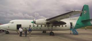 A Fokker F27 at Waterford